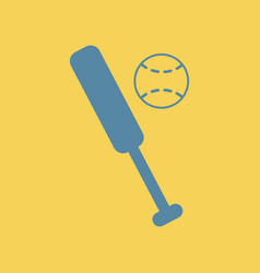 Ball baseball bat vector