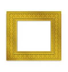 Shining golden indian photo frame vector
