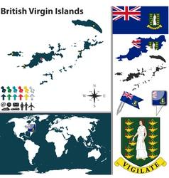 British virgin islands map world vector