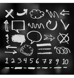 hand drawn speech bubbles on chalkboard vector image