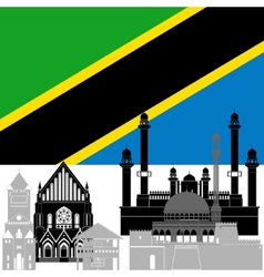 United republic of tanzania vector