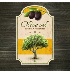 Olive oil label print vector