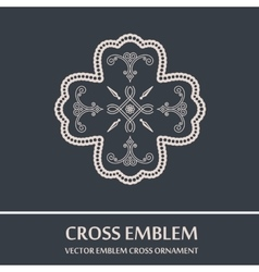 emblem cross ornament vector image