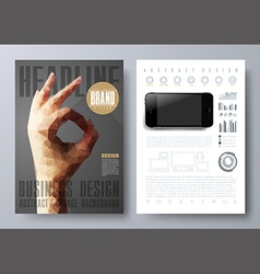 Template for brochures flyers posters covers vector