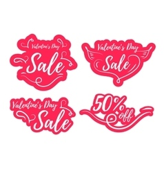 Valentines day sale promo vector