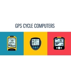Gps computers and apps for bike and cycling vector