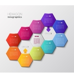 Geometric hexagon infographic concept vector