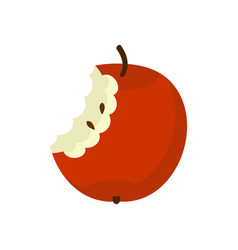 apple core isolated fruit trash rubbish on white vector image