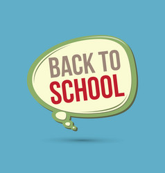 Back to school text in balloons vector