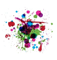 Colorful drops of paint grunge background for your vector image