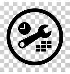 Date and time configuration rounded icon vector