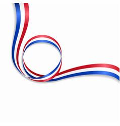 Dutch wavy flag background vector