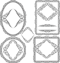 frames - square oval rectangular circular vector image