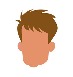 Head man male faceless adult image vector