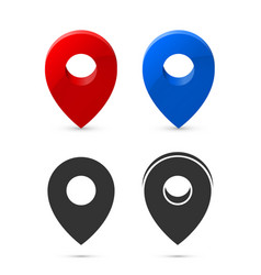 location icon set flat sign white background vector image
