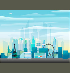 modern cityscape vector image vector image