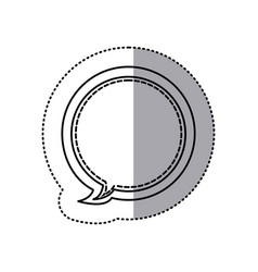 Monochrome contour sticker of circular balloon vector