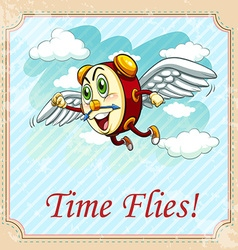 Old saying time flies vector