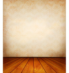 Old wall and a wooden floor vector image vector image
