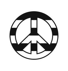Peace symbol rainbow icon vector