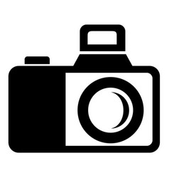 Photocamera icon simple black style vector
