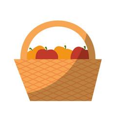 picnic basket icon vector image vector image