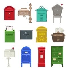 Post mail box set vector