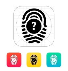 Question mark faq sign fingerprint icon vector