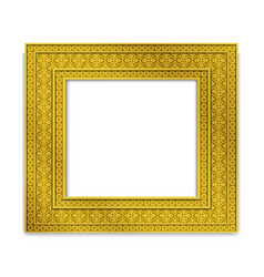 Shining golden indian photo frame vector