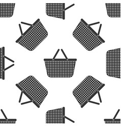 Shopping basket icon seamless pattern vector