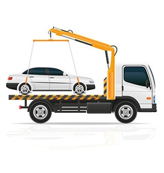 tow truck 03 vector image