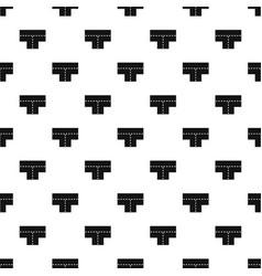 Tshaped crossroad pattern vector