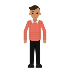 Young man plaid shirt worker occupation vector