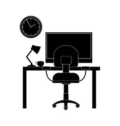 desk office icon vector image
