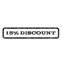 15 percent discount watermark stamp vector image