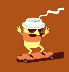 Coffee cup character vector