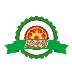 Pizza label or banner vector