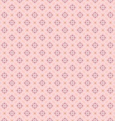 Seamless geometric flowers pattern vector