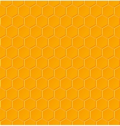 Seamless geometric pattern with honeycombs vector