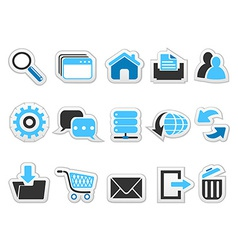 Web internet button icons set vector