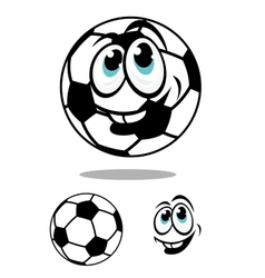 Cartoon soccer or football ball charcter vector