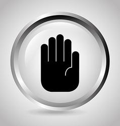 hand stop vector image
