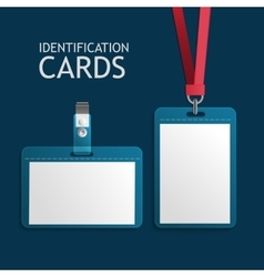 Badge identification plastic id cards vector