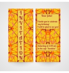 Card with hand drawn abstract pattern invitation vector