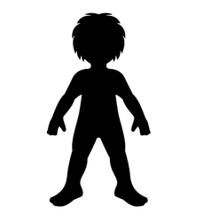 Child silhouette vector