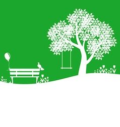 Outdoor green vector