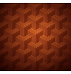 Dark parquet 3d seamless floor pattern vector