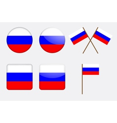 Badges with russian flag vector
