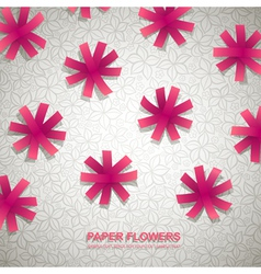 Paper Flowers Background vector image