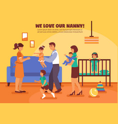babysitter background vector image vector image
